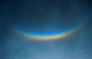 Circumzenithal Arc during a Solar Eclipse, 1997