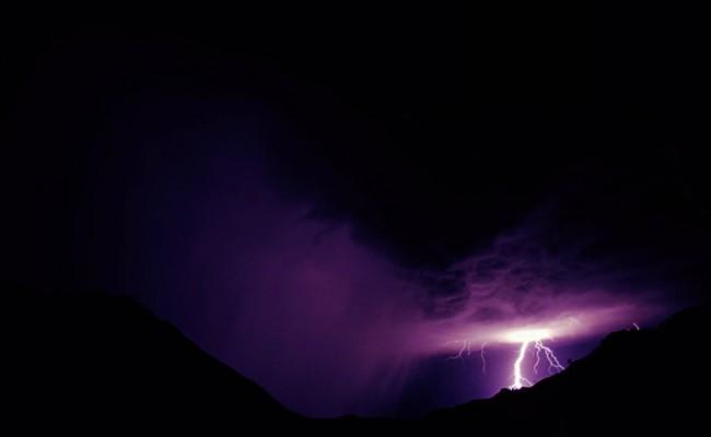 Thunderstorm, Gamsberg, Namibia