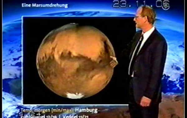 Mars rotation in the weather forecast, ARD
