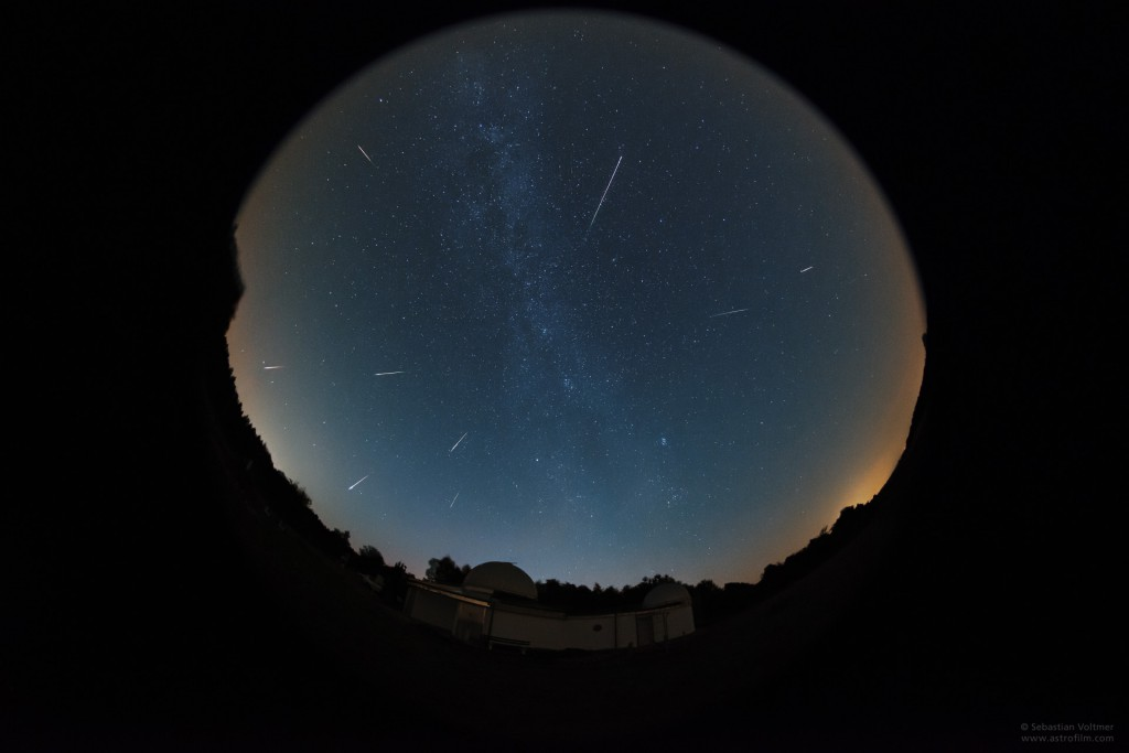 Perseids during the night August 13, 2015