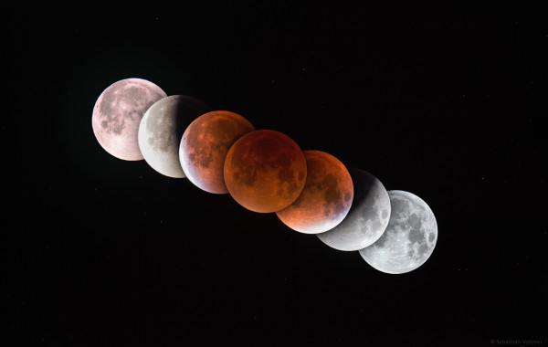 Total Lunar Eclipse over the Gollenstein