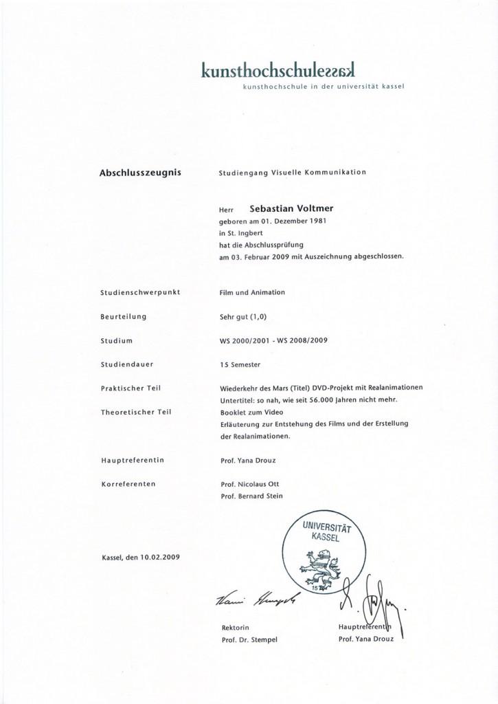 Final Decree Kassel University
