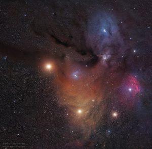 Mars & Rho Ophiuchi
